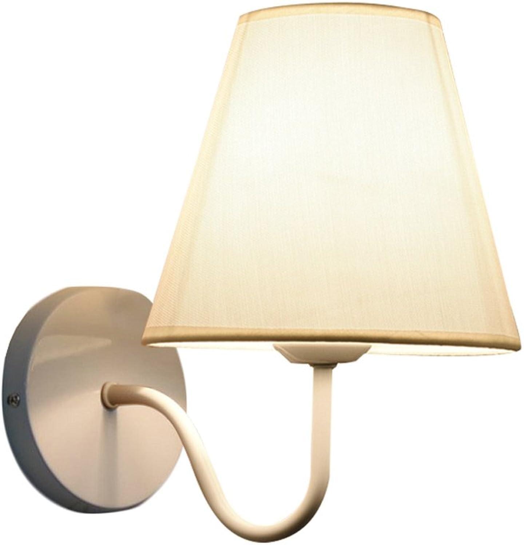 DYFYMX Moderne minimalistische kreative Wandlampe, Wohnzimmerlampe Schlafzimmer Nachttischlampenganggewebe-Wandlampe - Wandleuchte für Home Office (Farbe   Wei)
