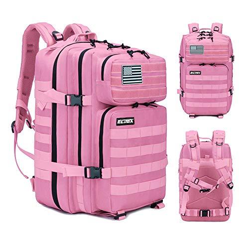 Elitex Mochila 25L Tactica Militar Color Rosa Bandera USA Impermeable para Deporte  Gimnasio