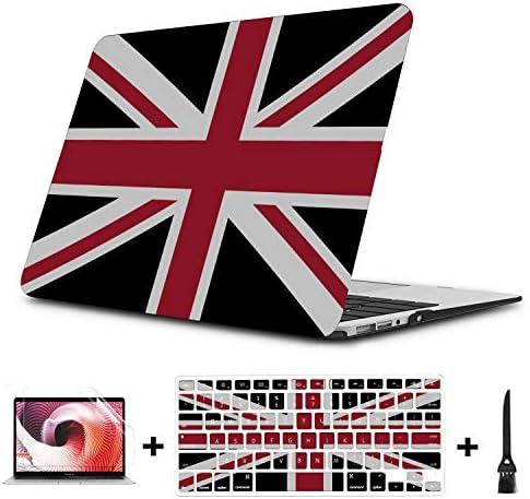 Case MacBook Pro 13 Union Jack Con Nero Della Bandi Plastic Hard Shell Compatible Mac Air 11 product image