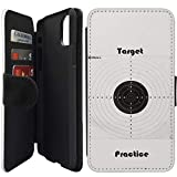 Flip Wallet Case Compatible with iPhone 11 Pro MAX (6.5') (Target Practice Shooting) with Adjustable Stand and 3 Card Holders | Shock Protection | Lightweight | Includes Free Stylus Pen by Innosub