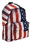 Mini Rucksack Sportrucksack Streetwear City Backpack in USA Stars and Stripes Flaggen Muster