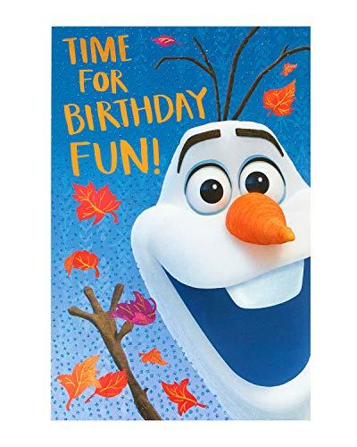 Disney Frozen 644082 Geburtstagskarte zum 2. Geburtstag, Olaf-Motiv