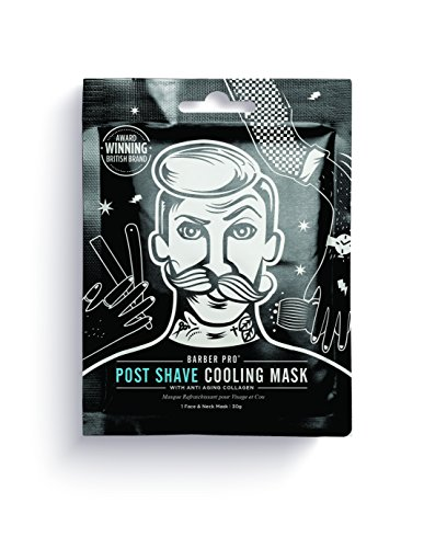 BARBER PRO POST SHAVE COOLING MASK™ with anti-ageing collagen (30g),