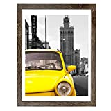 Emeyart 12x16 Frame Made to Display 11x14 Picture with Mat or 12x16 Photo Without Mat Picture Frames Wall Art for Wall Decor or Table Top Display,Brown