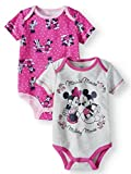 Disney Infant Girls 2pc Minnie & Mickey Mouse Bodysuit Set Pink Baby Outfit