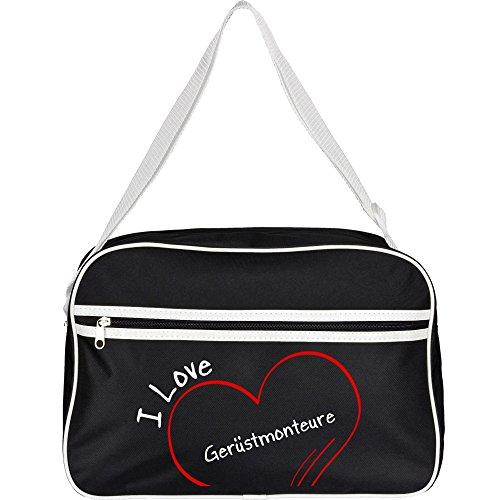 Diseño de bolso bandolera I Love andamio cerrajeros colour negro