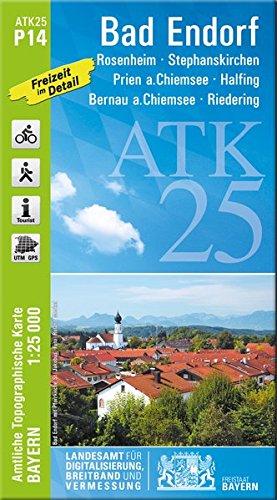 Bad Endorf 1 : 25 000 ATK P14 (ATK25 Amtliche Topographische Karte 1:25000 Bayern)