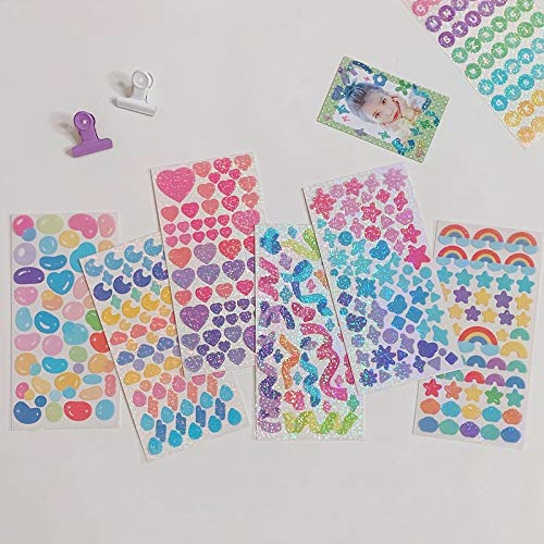 Kawaii Colorful Sequin Fantasy stickers DIY scrapbooking base collage diary journal happy plan decoration stickers