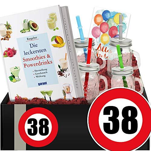 Zahl - 38 - Geschenkpaket Gesundheit - 38 Geburtstag Geschenke
