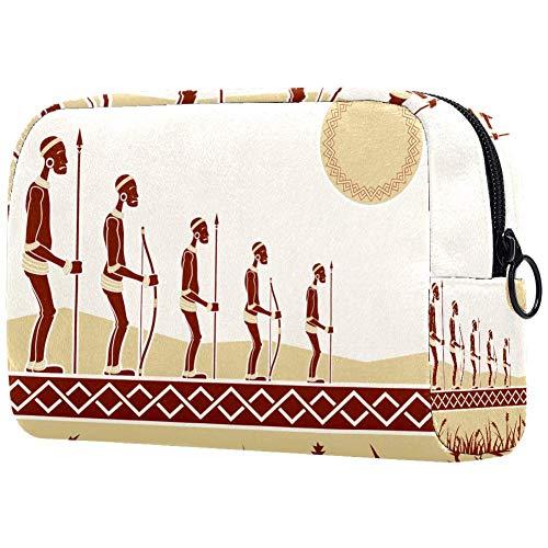 Bolsa de maquillaje personalizada para brochas de maquillaje, bolsas de aseo portátiles para mujeres, bolso cosmético, organizador de viaje para personas africanas