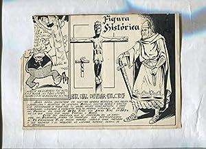 Dibujo original de: Hipo, Monito y Fiffi modelo 16: Figura historica El Cid Campeador