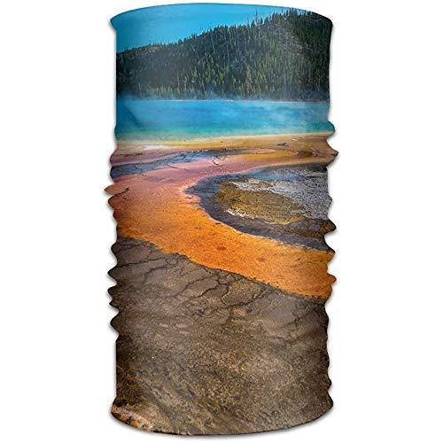 Yellowstone Chapeaux Bandanas sans Soudure Foulard Sport en Plein Air Coiffe Courir Équitation Ski Randonnée Bandeaux 50X25CM