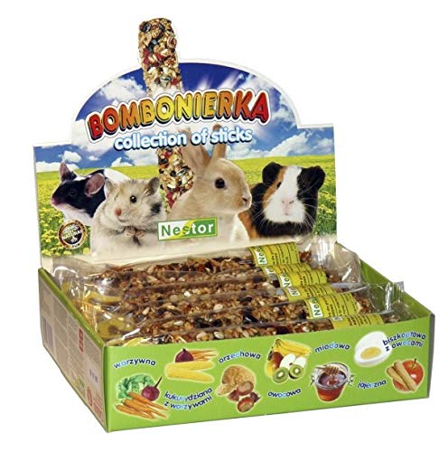 Mani-Ko Hamster Collection of Sticks Rodents Rabbit Guinea Pig Food Pet 12x Flast Food Rat Mice Mouse Gerbil