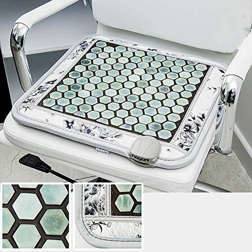 XER Cuadrado Terapia Masaje Amortiguar Manta de Jade Natural Jade Roca Infrarrojo Calor Almohadilla Inteligente Controlador Jade Estera