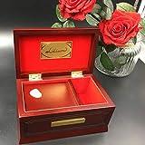 WANZSC Caja de música de madera de haya maciza de madera de 18 tonos, caja de música para chicas de amor