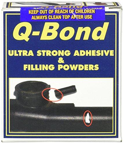 Q-Bond Ultra Stark haftend & Füllung Pulver 6X 10ml Kleber 2x schwarz Powder 1XGREY Puder