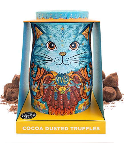 Monty Bojangles kakaobestäubte Schokoladenpralinen- Spirit Blue Katzen-Geschenkdose 135g