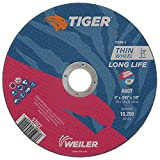 Weiler 57022 Tiger 6' Cutting Wheel, 0.045' Thick, Type 1, A60T, 7/8' A.H. (Pack of 25)