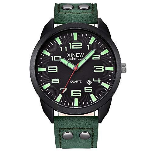 Ausverkauf Quarzuhr Herren Armbanduhren, XINEW Nylonarmband Simple Calendar Luminous Dial Outdoor Herren Quarzuhr EvansampC5