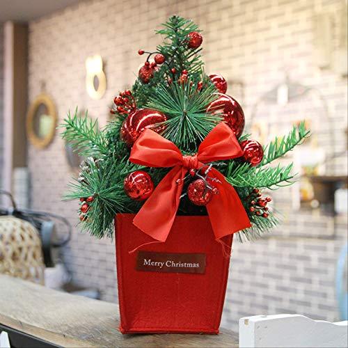 HTHJA Mesa De Navidad Árbol, 30 Cm Mini Árbol De Navidad con...