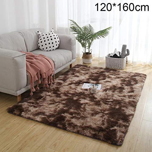 Mothcattl - Alfombra de pelo largo suave y cálida, para sala de estar, dormitorio, sofá cama minimalista nórdico lleno de alfombra, decoración para el hogar o el salón, café, 120*160cm