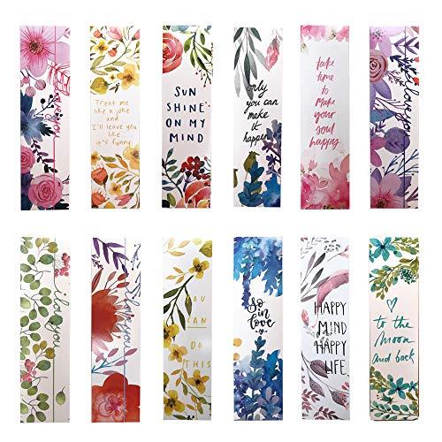 Bellissimi segnalibri con fiori per bambine, donne, ragazze, confezione da 30 pezzi (lingua italiana non garantita)