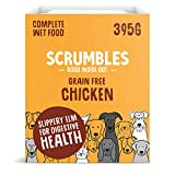 Scrumbles Natural Wet Dog Food, Grain Free Recipe with 70% Chicken and Slippery Elm, 7x 395g