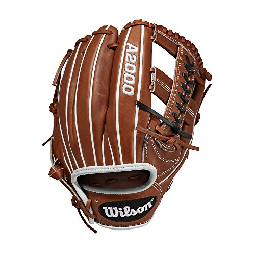 Wilson A2000 11.75-Inch SuperSkin Baseball Glove, Copper/White, Left (Right Hand Throw)