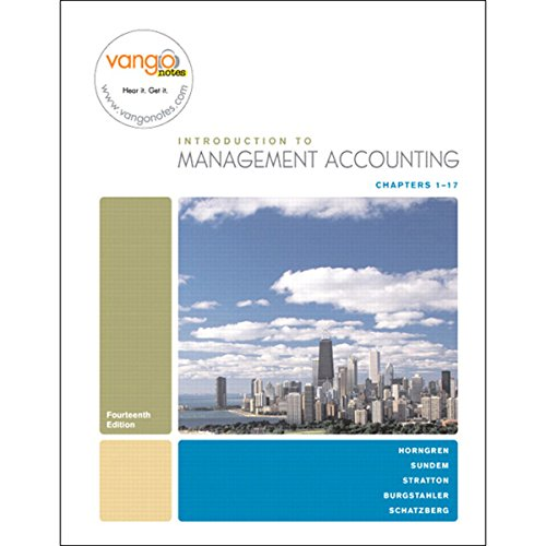 VangoNotes for Introduction to Management Accounting, 14/e cover art