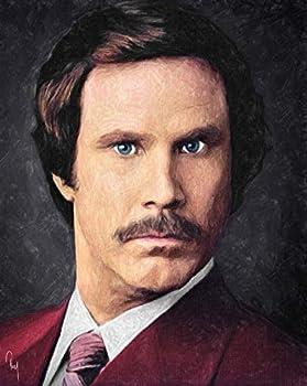 Zapista Ron Burgundy Painting Art Print Will Ferrell Comedy Film Anchorman Movie Poster Unframed  9.625  x 12
