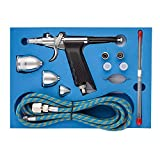 Fy-Light SP166AK Professional Dual Action Airbrush Kit with 0.2/0.3/0.5mm Needles & 2cc/5cc/13cc Cup Trigger Air Paint...