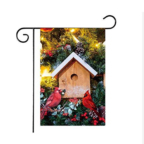 Banner, Flaggen Im Freien, Kardinäle Home Dekorative Gartenflagge, Arizona Red Birds Flagge Outdoor Dekor Für Häuser Und Gärten Für Winter/Weihnachten Gartenflagge Flagge Outdoor Dekor