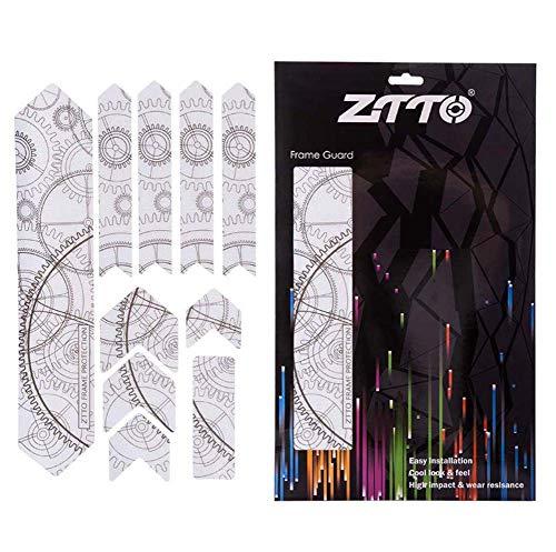Pegatinas Transparentes de Bicicleta, calcomanías de Pegatinas de Graffiti de Personalidad MTB DIY, Cubierta de reparación Creativa Scratch Bike Pegatinas de protección 3D a Prueba de Agua,Gear