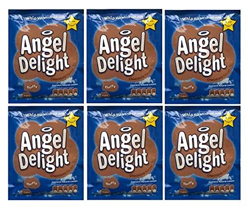 Oiseaux Angel Delight Chocolat Saveur 6 x 59gm sachet