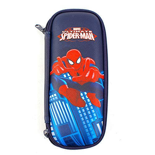 WINGHOUSE x Marvel Spider-Man Iron-Man Captian America Pencil Pen Holder Storage Case Bag Pouch Box (Spider-Man EVA)
