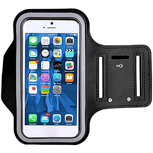 qiaohuan shop Brazalete de running para smartphone de 5.5 pulgadas, cómodo brazalete deportivo a prueba de sudor con soporte para llaves y correa de extensión para correr, gimnasio, senderismo