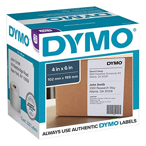 Price comparison product image DYMO LabelWriter Shipping - Shipping labels - black on white - 4 in x 6 in - 220 label(s)