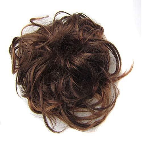 Messy Style Bun Perruque Chouchou Chou Facile ¨¤ Porter Extension Cheveux Boucl¨¦s Nouveau