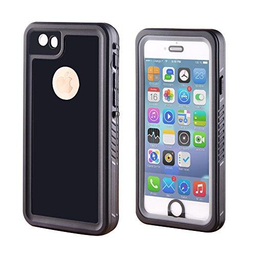 Jian Ya Na Funda Impermeable para iPhone 6 / 6s, Debajo del Cuerpo Completo a Prueba de Golpes de protección IP68 hermético al Polvo Durable Sensible al TAC para iPhone 6 / 6s (4,7 Negro Piano