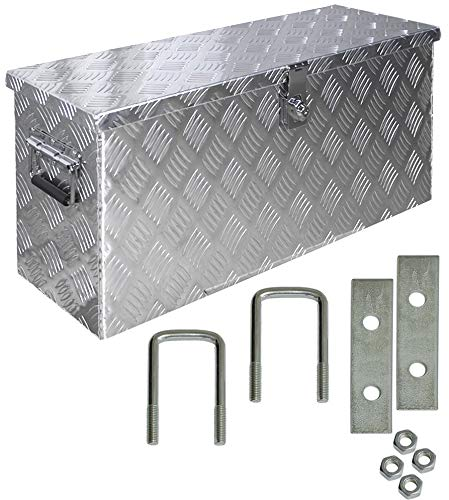Truckbox Box Werkzeugkiste Anhängerbox Alubox Deichselbox Aluminium inkl. Montagesatz D055 Trucky