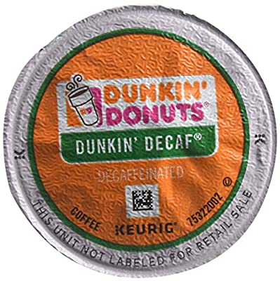 Dunkin' Donuts 24306977 Decaf Single-Serve K-Cup Pods Medium Roast Coffee 44 Count