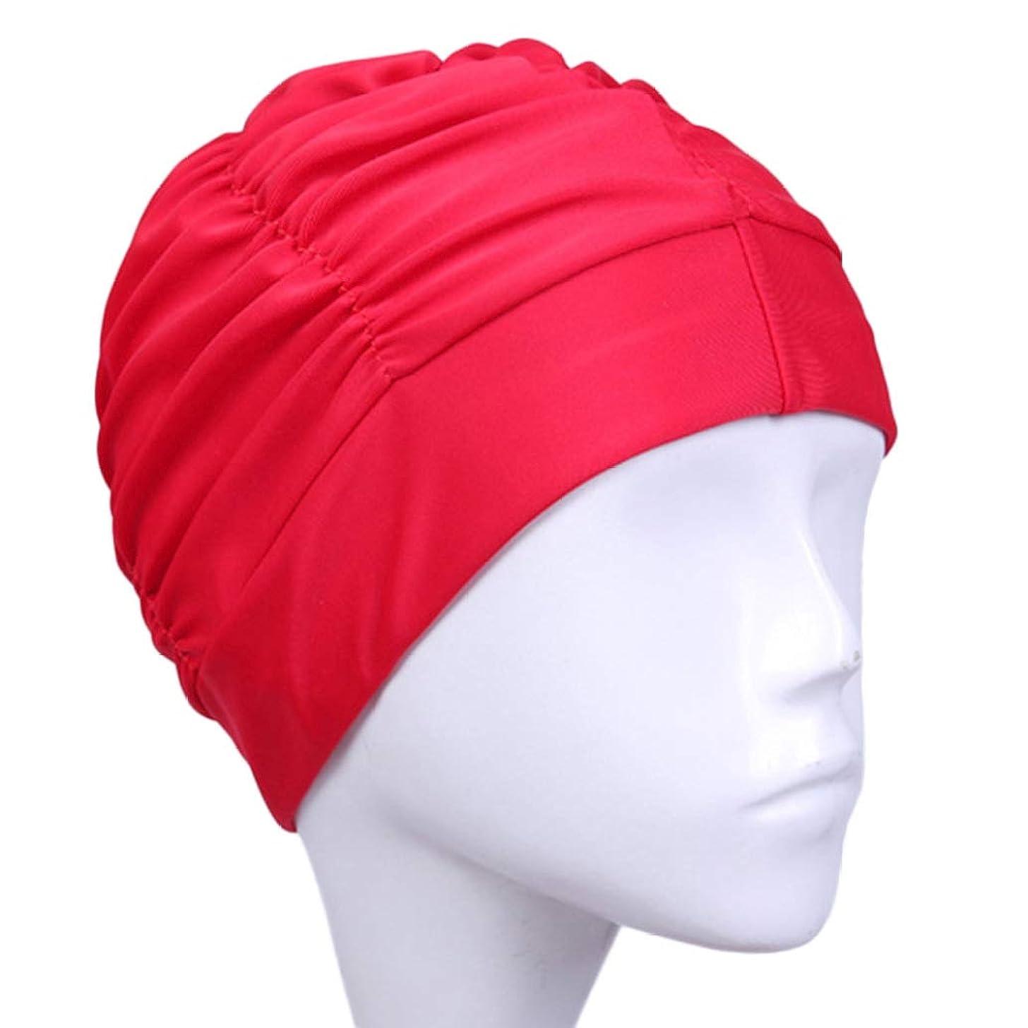BOWINUS Swimming Cap Long Hair Sports Swim Pool Hat Elastic Nylon Turban for Men & Women
