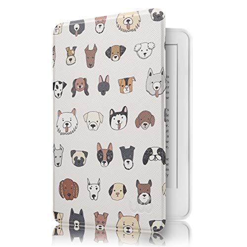 Capa Novo Kindle 10ª Geração WB® - Ultra Leve Silicone Flexível Sensor Magnético Dogs
