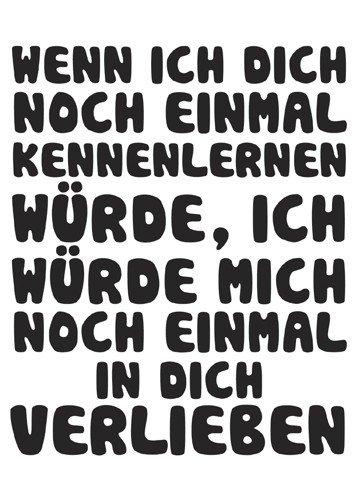 Grußkarte 11,5x16 cm +++ LUSTIG von modern times +++ IN DICH VERLIEBEN +++ ECKI DESIGN