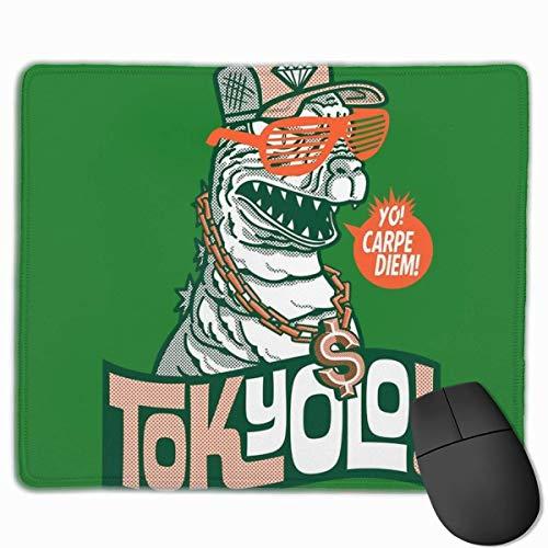 Alfombrilla de ratón TokYOLO Yo Carpe Diem Godzilla escritorio alfombrilla para ratón de 11.8 x 9.8 pulgadas, base de goma antideslizante, alfombrilla de teclado para ordenador/portátil