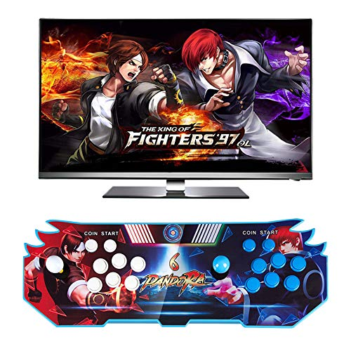 iRULU Pandora Box 6 Game Console, 3003 in 1 Classic Retro Arcade Games Pandora's Box Video Game Console with 2 Players Joystick and Buttons, Support Full HD (1920x1080) Video HDMI VGA Audio USB Output