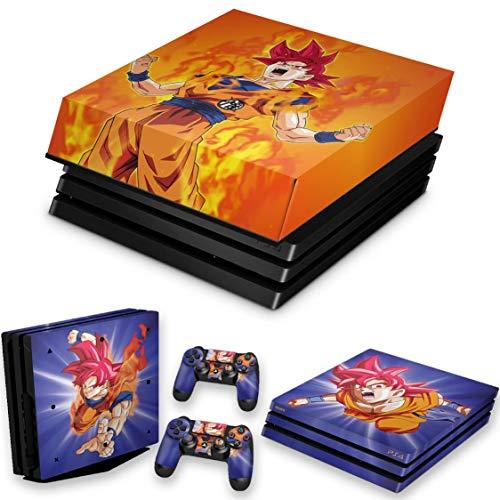 Capa Anti Poeira e Skin para PS4 Pro - Dragon Ball Super Goku