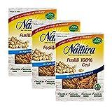 Nattura Fusilli de Chickpeas Organic Farming Vegan OK Rico en Proteínas, Fibras, Hierro, Manganeso y Fósforo - 3 x 250 Gram