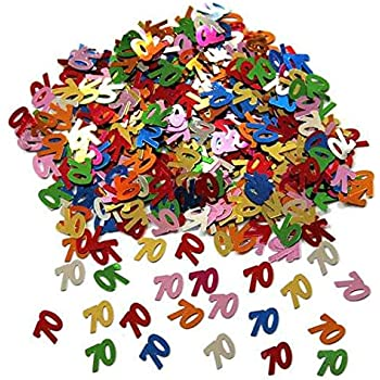 Tischkonfetti mit Zahl 80 Streudeko für Feste Geburtstag Tischdeko Party-Deko