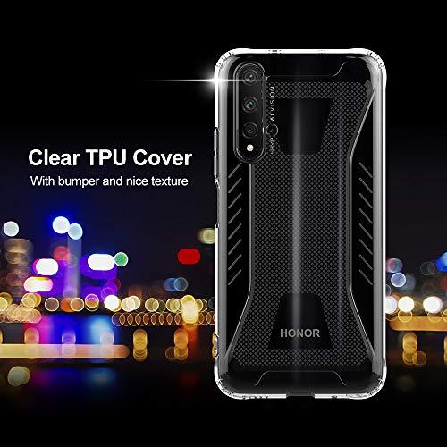 CRESEE für Huawei Nova 5T / Honor 20 Hülle Case, Schutzhülle Transparente Dünn Weich Silikon Cover Bumper Stoßfest Handyhülle Fall für Huawei Nova 5T/ Honor 20 (Transparent) - 2